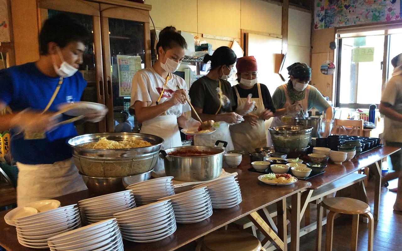 【食堂】ご飯の準備・盛り付け